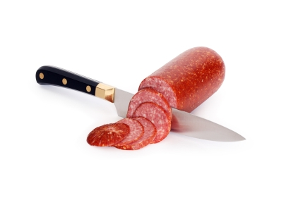 Don't eat a salami without cutting it into pieces