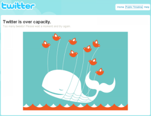 Twitter overcapacity messages appears a bit too often